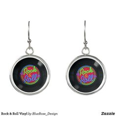 Rock & Roll Vinyl Earrings Rock And Roll, Keep It Cleaner, Colorful Backgrounds, Drop Earrings, Personalized Items, Unique, Silver, Jewelry, Design