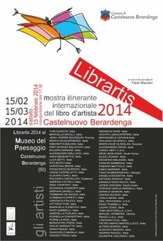 The exhibition of the artist's book at the Landscape Museum in Castelnuovo Berardenga inaugurates tomorrow! http://www.museisenesi.org/eventi/librartis
