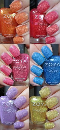 Zoya Summer Pixie Dust Collection: http://paintingrainbowsblog.blogspot.com/2013/04/zoya-summer-pixie-dust-collection.html