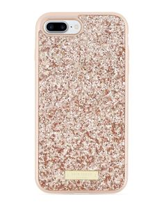 Kate Spade New York Rose Gold Exposed Glitter Case for iPhone 7 Plus