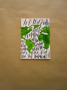 """5x7 - Habakkuk 2:14 """"As the waters cover the sea..."""" Decorative Sign by Phoebe Thomas on Etsy"""
