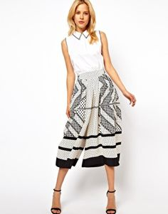 ASOS Culottes in Scarf Print