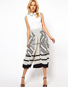 ASOS - Jupe-culotte à imprimé foulard