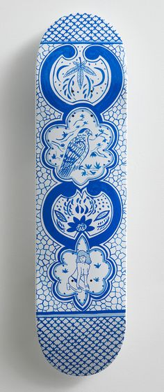 Skateboard Art  skate deck by Eduardo Sarabia for MAKE Skateboards exhibition (via Grey Area)  #GiftIdeas