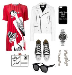 """""""Untitled #40"""" by nogoeva on Polyvore featuring Holly Fulton, Yves Saint Laurent, Converse, Versace, Vivienne Westwood, Karl Lagerfeld and CÉLINE"""
