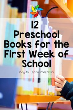 These 12 picture books are perfect for the first week back to school. Preschoolers will love the interactive text, repeating phrases, and rhyming they'll find in these books. Preschool First Week, Preschool Lesson Plans, Preschool Literacy, Preschool Books, Literacy Skills, Preschool Ideas, Teaching Ideas, Montessori Books, Old Teacher