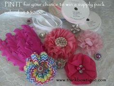 Hair accessory supplies Australia  see blog for details on how to win http://thinkbowtique.com/blog/2013/11/15/pin-it-to-win-it/