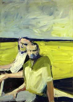 Paul Wonner - Untitled (Two Men at the Shore), 1960