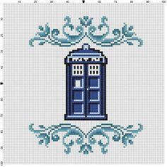The Tardis Doctor Who Cross Stitch Pattern by SnarkyArtCompany