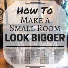 Have a small room in your house that looks even smaller than it is? Check out our tips for how to make a small room look bigger.