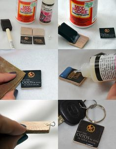 DIY Hunger Games Keychains with Printable Decals hunger-games-birthday-party-ideas