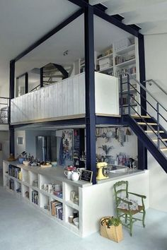 Loft - (original source?) (#something_beautiful_journal_small_spaces, #micro_homes, #small_homes