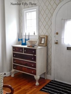 If you have to paint an old piece of furniture... eclecticallyvintage.com