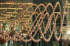 Mesmerising moving teardrop sculpture, Changi Airport, Singapore by Richard Ainsworth