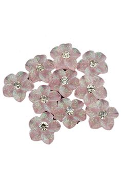 Shop 10 Pink Glitter Flower Rhinestones Nail Art Decorations at ROMWE, discover more fashion styles online. Nail Charms, Nail Art Rhinestones, Nail Accessories, Pink Glitter, Charmed, Stud Earrings, Decorations, 3d, Nails