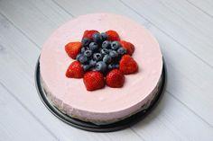 Vezelrijke kwarktaart met aardbeien (FODMAP, lactosevrij)