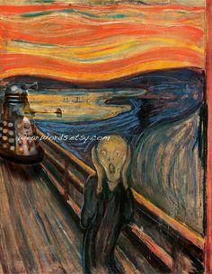 Doctor Who Dalek Parody Print Edvard Munch Scream by ParodiesLost via Etsy