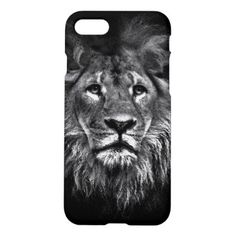 #Lion Black Watercolor Drawing Zazzle iPhone 7 Case - #giftideas #teens #giftidea #gifts #gift #teengifts