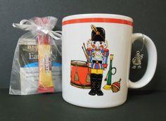 Artist Bob Timberlake Nutcracker Earl Grey Tea Folgers Santa Charm Cup Free U S Shipping SJG
