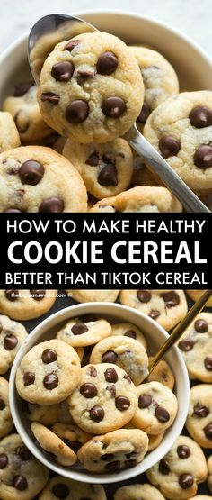 Healthy Cereal, Healthy Cookies, Healthy Desserts, Healthy Breakfast Cereal, Paleo Cereal, Cookie Crisp Cereal, Cereal Cookies, Cookies Et Biscuits, Fun Baking Recipes