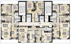 katta 4 daire planı ile ilgili görsel sonucu Architecture Plan, Residential Architecture, Residential Building Plan, Planer Layout, Building Layout, Apartment Floor Plans, Family House Plans, Apartment Layout, Plan Design