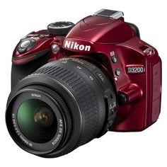 NIKON D3200 24.2MP Digital SLR Camera with 18-55MM VR Lens Red