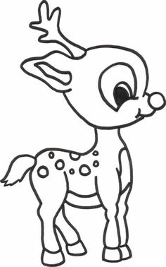 Rudolph Coloring page for kids