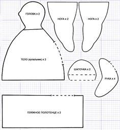 Тильда толстушка пляжная: выкройка куклы для шитья