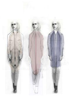 Fashion Sketchbook - collection concept sketches; fashion design portfolio // Niall David James