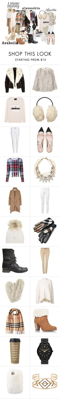 """The Daughters are Snow Bunnies"" by pooka-princess on Polyvore featuring River Island, Topshop, Markus Lupfer, Uniqlo, Burberry, Miu Miu, Chloé, Lulu Frost, Harris Wharf London and Frame Denim"