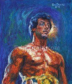 Sylvester Stallone Rocky Balboa Rocky 3 art print by billpruittart, $15.00