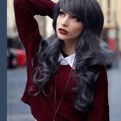 Dark Grey Hair - 10 Shades of Grey Hair Color Love Hair, Gorgeous Hair, Cooler Style, Corte Y Color, Going Gray, Look Chic, Looks Cool, Hair Dos, Pretty Hairstyles