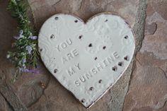 You are my Sunshine ring dish ceramic ring by ManuelaMarinoCeramic