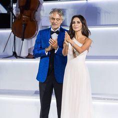 6.10.2017 - Intimissimi on Ice, Verona.                                           Andrea Bocelli and Zara
