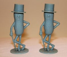 Vintage 1950's Blue Mr Peanut Salt and Pepper by THEAUCTIONGIRLS