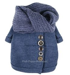 Louis Dog Cardigan N Warmer Sweater - Apparel - Sweaters Posh Puppy Boutique