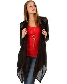 Black Knit Cardigan (plus size) at My Fashion Wear! www.myfashionwear.com
