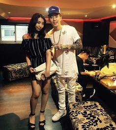 Jay Park ç(iKON) and Minzy (2NE1) <3 :3