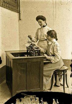 Mecanografas en el porfiriato 1900