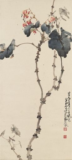 Zhao Shao'ang - Ink and colour on paper: hanging scroll