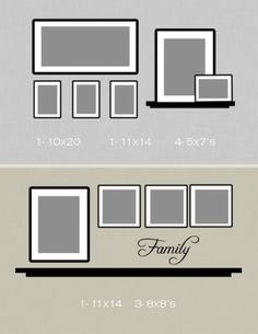 Picture Frame Design Ideas wall mirror design 6 Ways To Set Up A Gallery Wall 4 Reflection Create Order Out Of Chaos With This Arrangement Picture Wall Pinterest Galleries