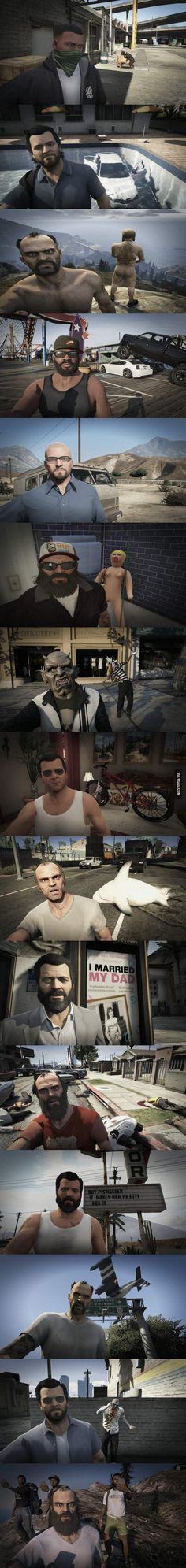15 Awesome Selfies You Probably Didn't Take In GTA V!