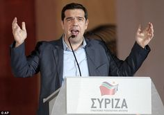Greek election exit poll suggests radical left wing Syriza will win | Daily Mail Online