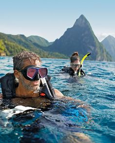 St. Lucia is in one of the most scenic settings the Caribbean has to offer, with the top St. Lucia dive and snorkeling sites right off shore. Photo: Stephanie Strommer/Redpoint PR