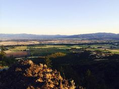 Summer evening view from Table Rock in southern Oregon.