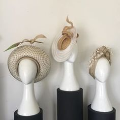 These ladies are available for purchase from my studio in central Melbourne today. There are others at Hugo Boss, Street Melbourne, just a block away. Melbourne Shopping, Melbourne Cup, Cream Hats, Spring Racing Carnival, Hugo Boss, Studio, Street, Lady, Bows