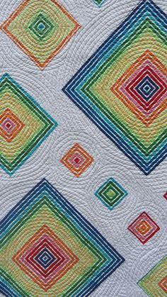 Bright Stripes quilt by M-R Charbonneau | Quilt Matters.  2013 Bloggers' Quilt Festival.