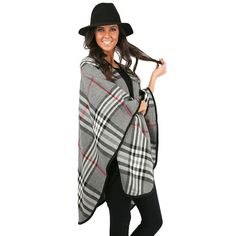 We're in love with plaid this season, and this poncho has quickly become one of our favorite items!
