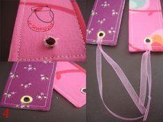 Le sewing-pot: Tuto marque-page tissu / Fabric bookmark tutorial