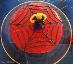 Spiderman Cake - Puddy's House 5th Birthday, Birthday Ideas, Spiderman, Create, Man Party, Inspiration, House, Cakes, Holidays